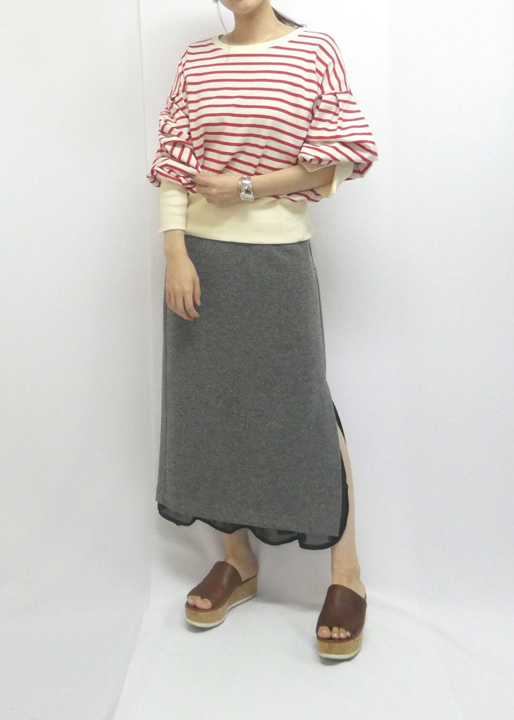 Side ZIP skirt/K211-65016