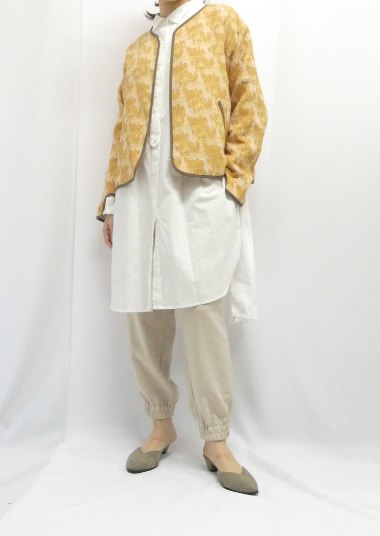 【No.4】No  collar jacket/K206-68010