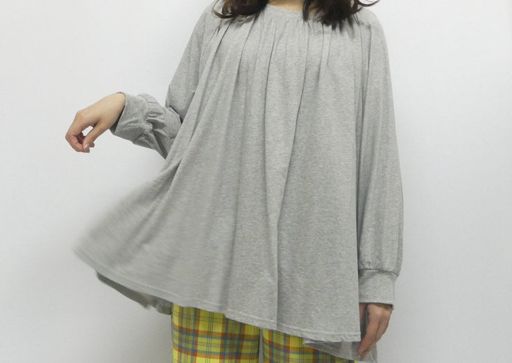 【No.4】Long  gather T-shirt/K211-62045