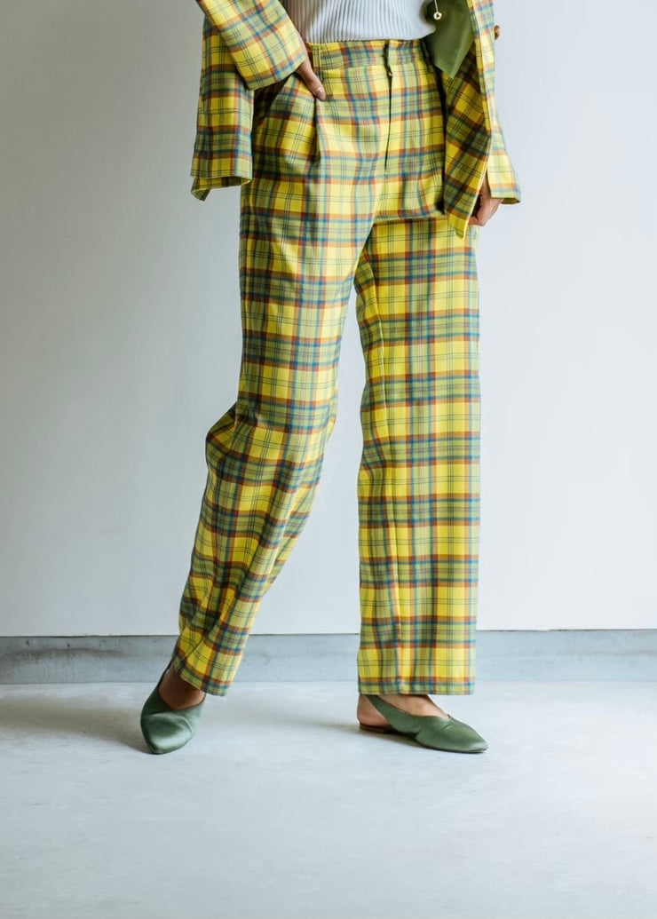 One tack check pants/K211-64031