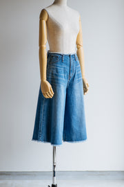 Lace up denim  culottes/K201-64010