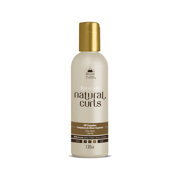KeraCare Natural Curls - Oil Complex 120ml - avlondobrasil
