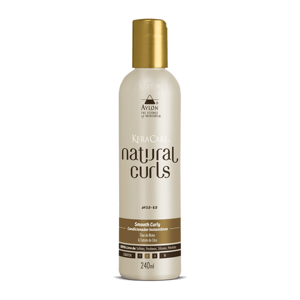KeraCare Natural Curls - Smooth Curly 240ml - avlondobrasil