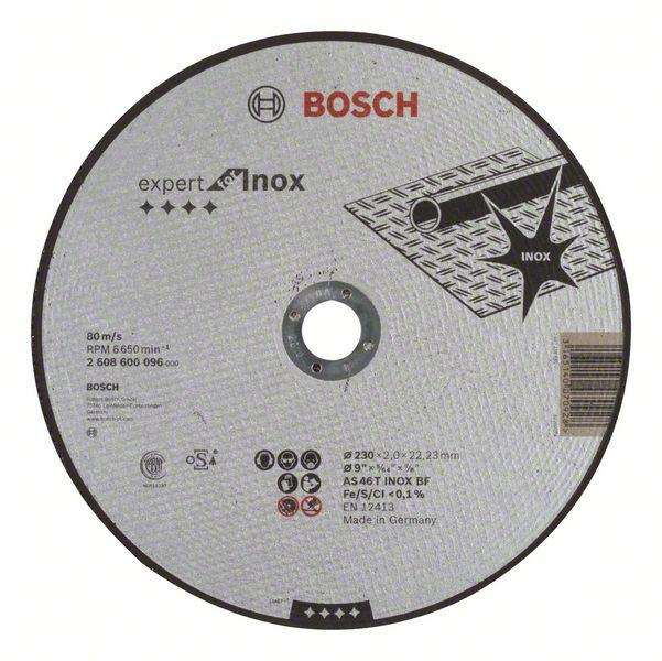 Bosch Grinding and cutting discs-Expert for INOX straight cutting disc, 230 mm, 22.23 mm, 2,0 mm