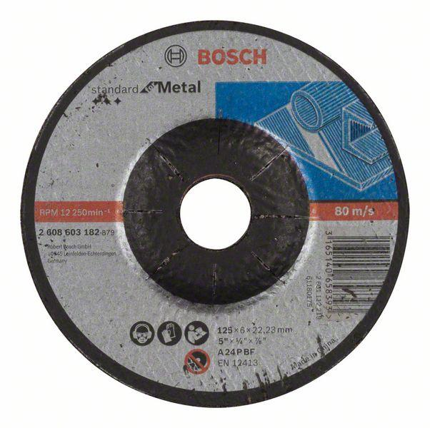 Bosch Grinding and cutting discs-Standard for grinding disc with depressed centre, 125 mm, 22,23 mm, 6,0 mm