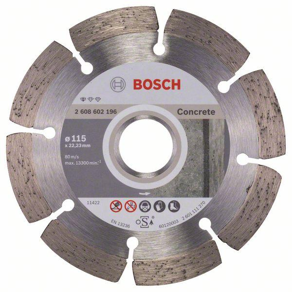 Bosch Diamond cutting discs-Professional for Concrete 115 mm x 22,23 mm x 1,6 mm