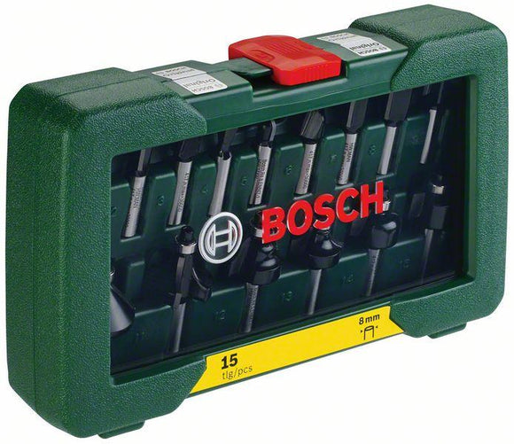 Bosch MKM-Promoline-15pcs routerbit set (8mm)
