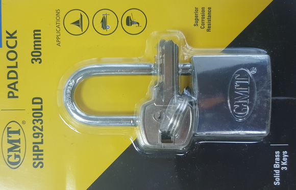 COMBO PADLOCK CHROME PLATED 3SB40MM
