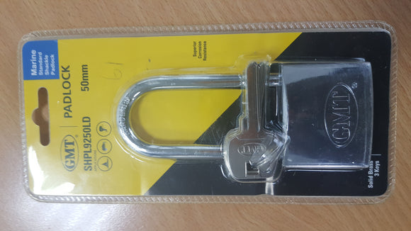 STANDARD  SHACKLE DOUBLE  BRASS PLATED 50MM-3KEYS