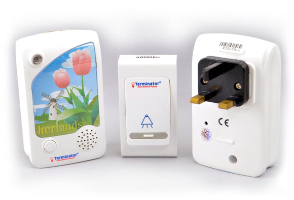 Terminator wireless digital door bell 13AC plug TDB 014AC-13A
