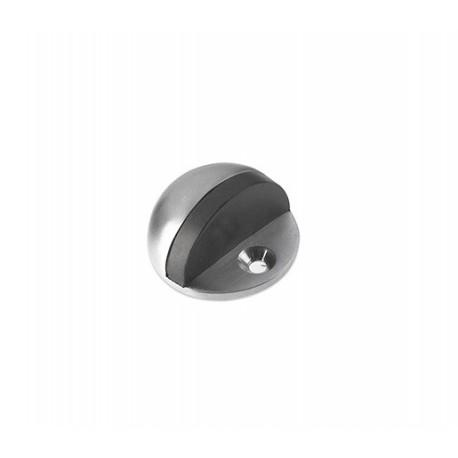 Oval satin nickle door stopper floor mounted