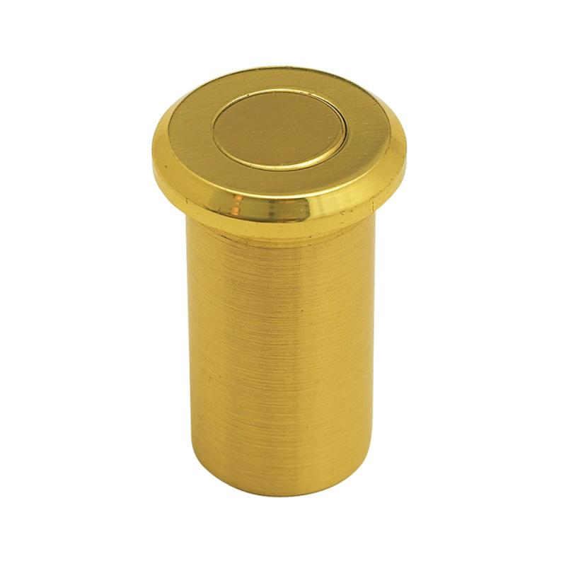 Dust poof door stop stainless brass finish