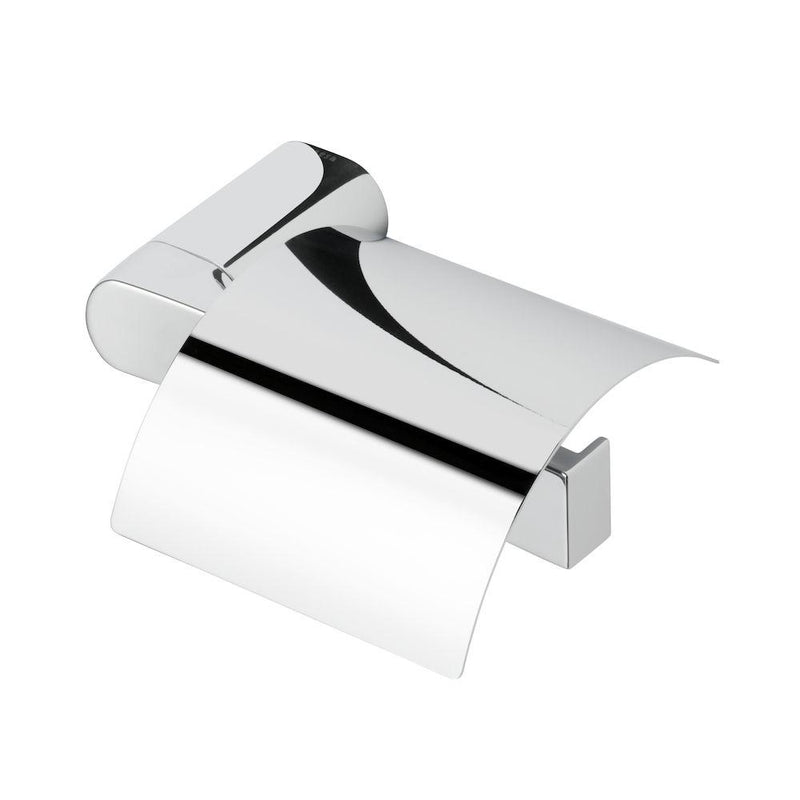Toilet roll holder with cover, right version