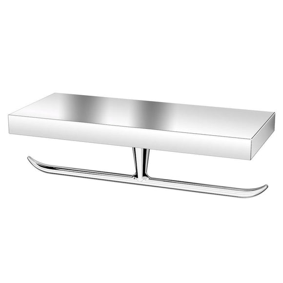 Toilet roll holder, double, chrome