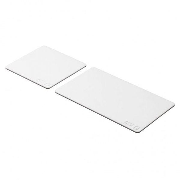Set of 2 coaster, white