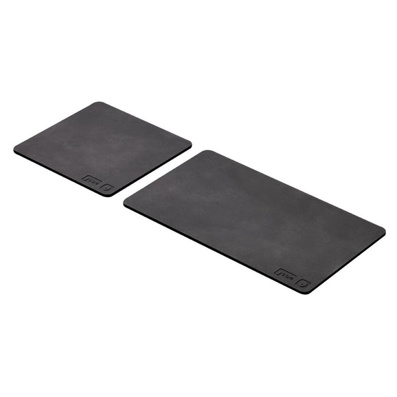 Set of 2 coasters, black