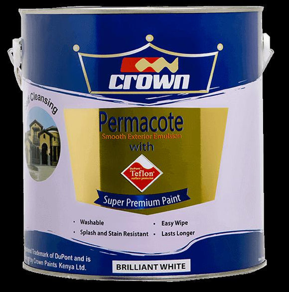 Crown permacote exterior emulsion with teflon surface protector