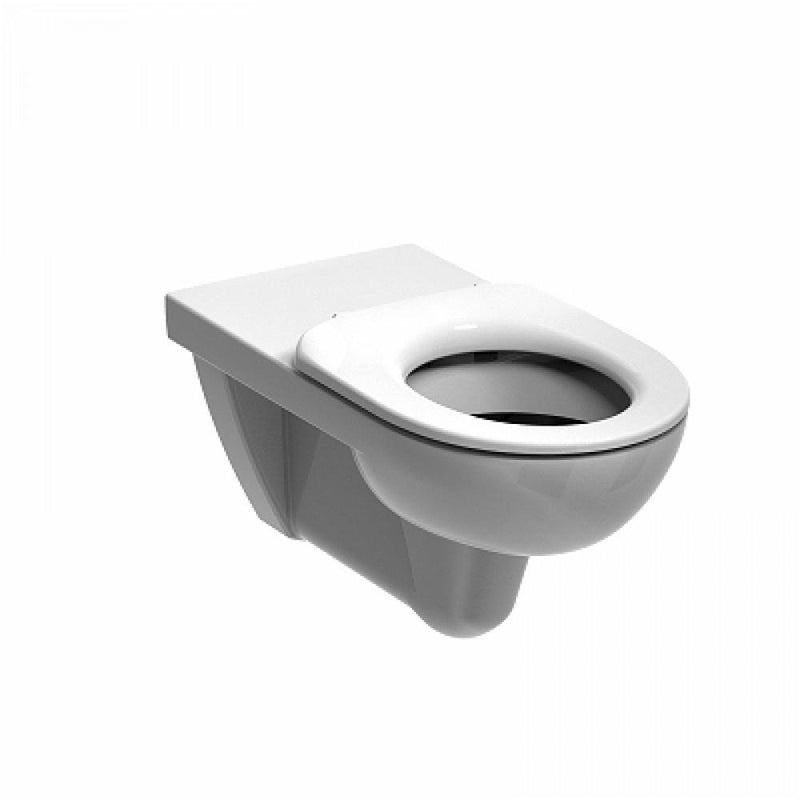 E11706WH Twyford E100 round wall hung WC pan,HO,700mm projection, (4/