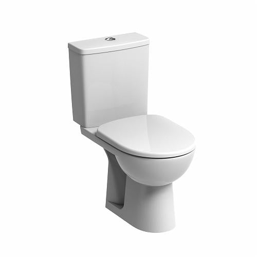 E11148WH - Twyford E100 Square close coupled standard toilet pan,