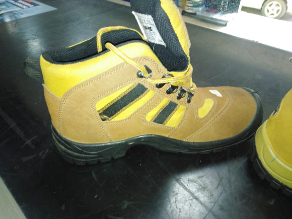 Tuf-fix Safety shoes - Yellow & Black high angle