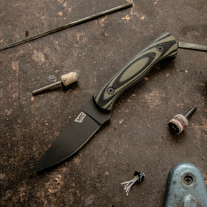 THE BLACKFOOT FIXED BLADE 2.0 - GREEN AND BLACK