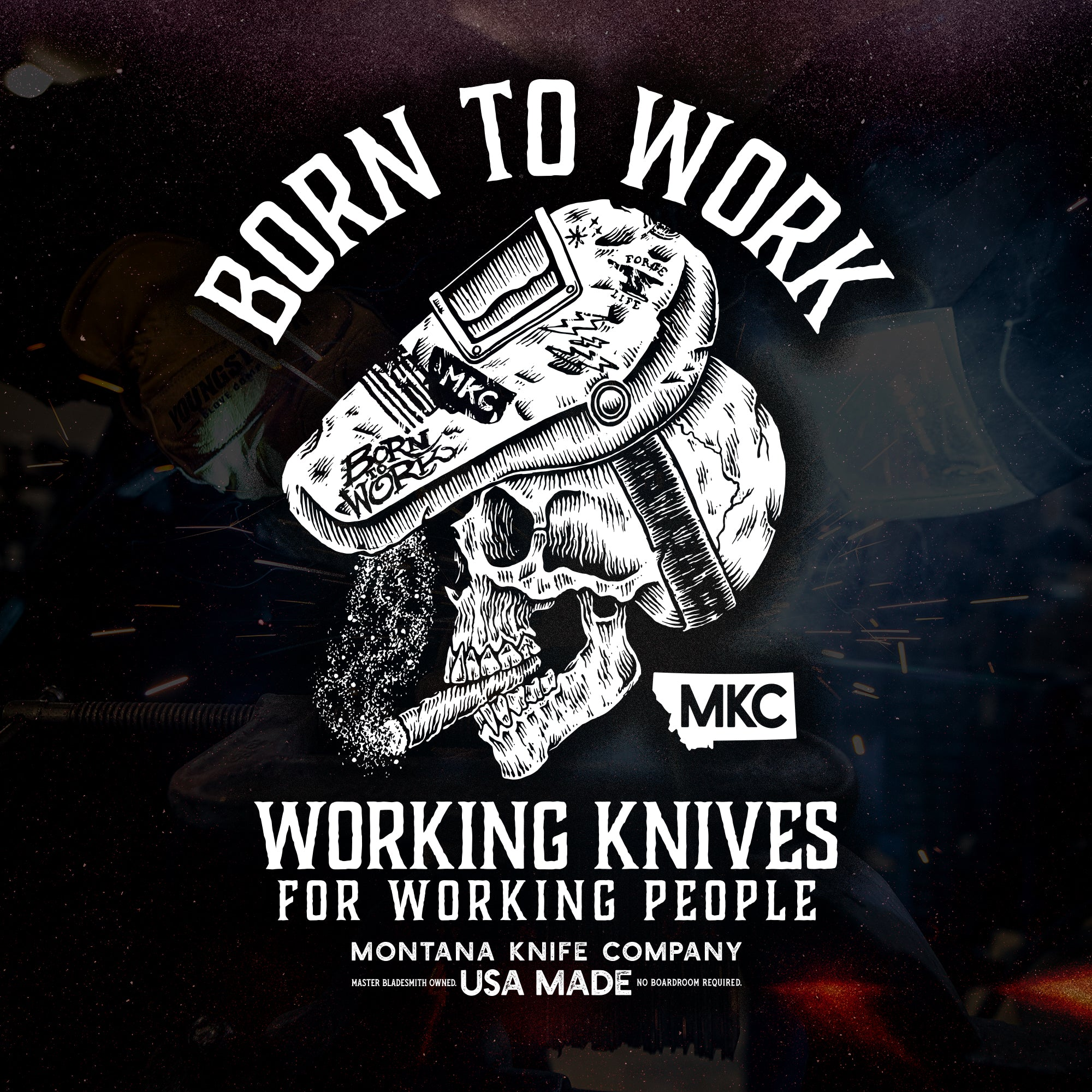 MKC BORN TO WORK TEE