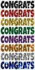 Sequin Multicolored CONGRATS 12in Lucky Guy Flashes