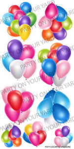 Multicolored Balloon Clusters