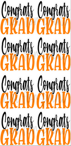 Black / Orange - 23in Congrats Grad Flashes