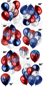 Patriotic Balloon Clusters
