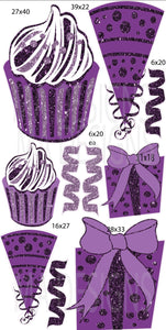 MA Jumbo Cupcake Hat Gift Flair- Purple