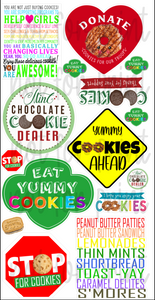 Girl Scout Cookies Signs 2
