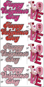 Happy Valentine's Day - Cursive & Love
