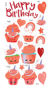 MA Unicorn Cupcakes- Red
