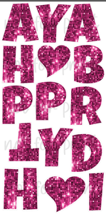 Pink Sequin - 18in HBD Lucky Guy