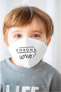 Corona Who Toddler and Child Face Mask