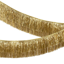 Load image into Gallery viewer, Gold Tinsel Fringe Garland