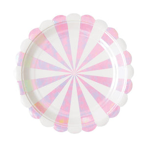 Iridescent Fan Stripe Small Plate