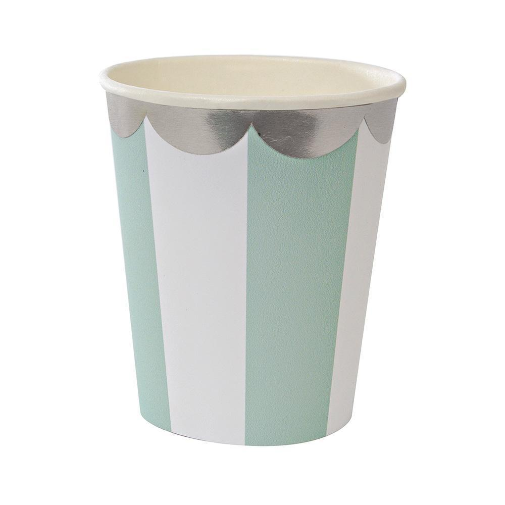 Mint Fan Striped Cup