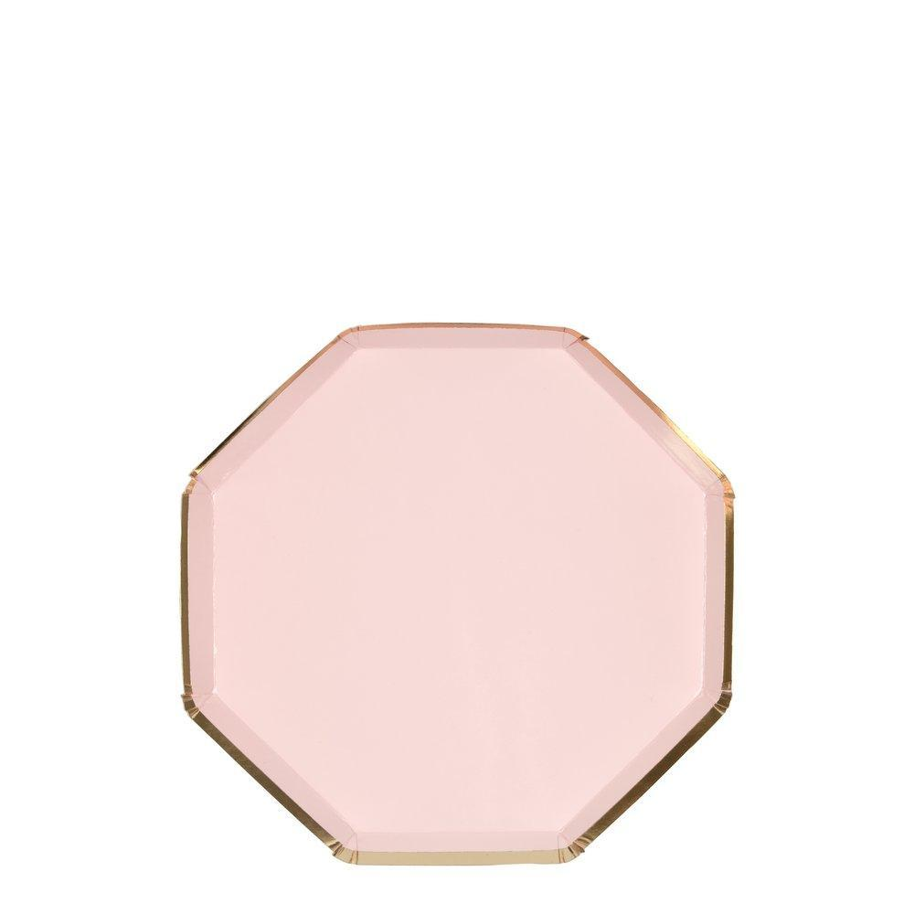 Dusky Pink Cocktail Plate