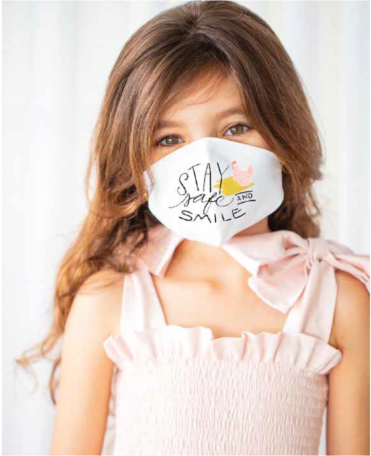 Stay Safe and Smile Toddler and Child Face Mask