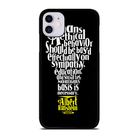ALBERT EINSTEIN 'S THINKING iPhone 11 Case