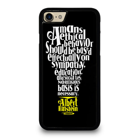 ALBERT EINSTEIN'S THINKING iPhone 7 / 8 Case