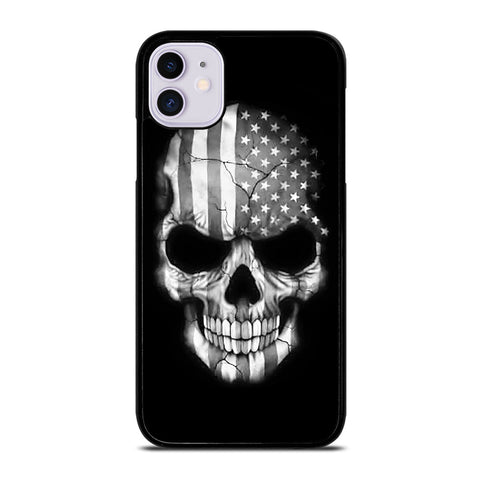 AMERICAN FLAG PUNISHER SKUL iPhone 11 Case