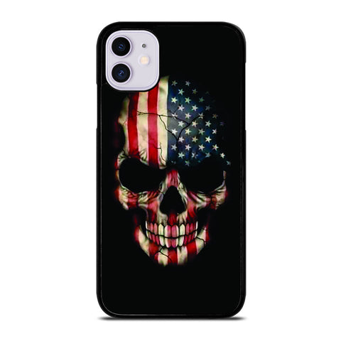 AMERICAN FLAG SKUL iPhone 11 Case