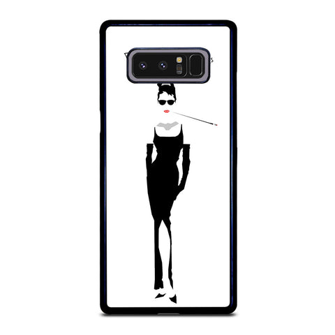 AUDREY HEPBURN BREAKFAST AT TIFFANY'S Samsung Galaxy Note 8 Case
