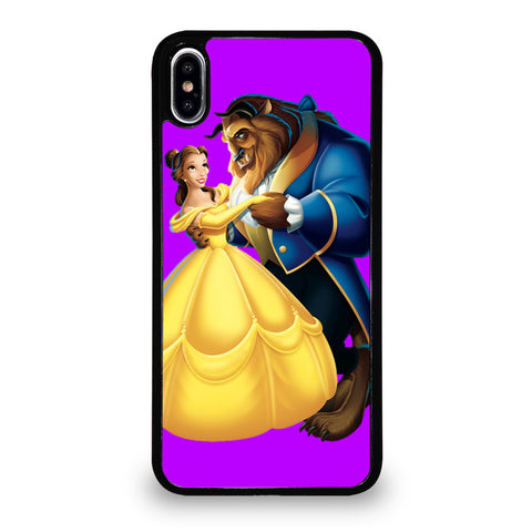 BEAUTY AND THE BEAST ROMANCE DANCING CARTOON iPhone XS Max Case