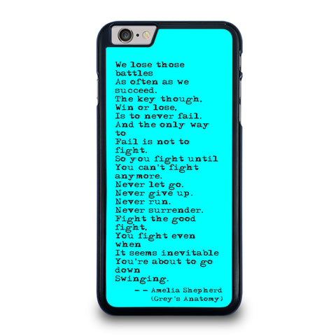 GREY'S ANATOMY QUOTES iPhone 6 / 6S Plus Case