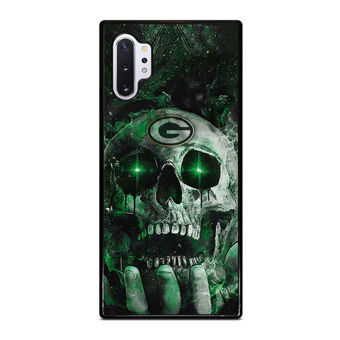 Green Bay Skull On Hand Samsung Galaxy Note 10 Plus Case