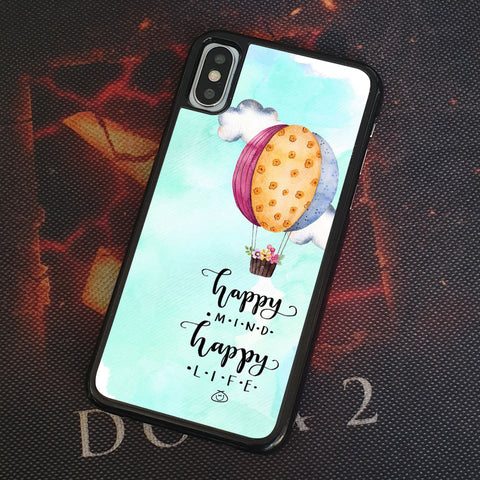 HAPPY MIND HAPPY LIVE iPhone Case